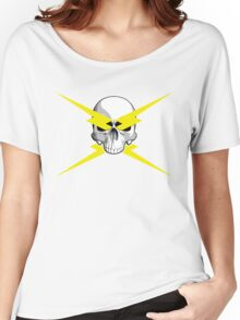 Skull and Lightning Bolts Women's Relaxed Fit T-Shirt