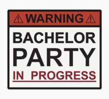 Warning Bachelor Party in Progress by TheShirtYurt