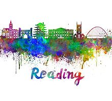 Reading skyline in watercolor by paulrommer