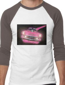 Pink Chevy Men's Baseball ¾ T-Shirt