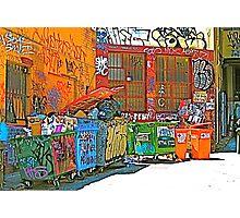 Back Alley Rainbow Photographic Print