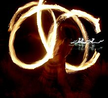 Dancing with fire : photograph by Roz McQuillan
