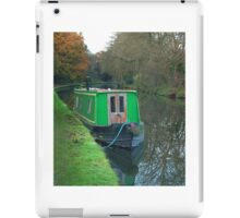 Green vintage canal boat iPad Case/Skin