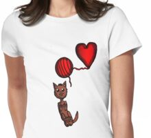 Kitty and Yarn  Womens Fitted T-Shirt