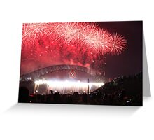 Sydney Harbour Bridge Fireworks, New Years Eve Greeting Card