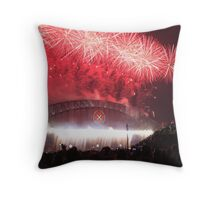 Sydney Harbour Bridge Fireworks, New Years Eve Throw Pillow