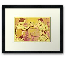 One Two Punch Framed Print
