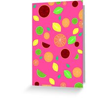 Colorful citrus background (Pink) Greeting Card