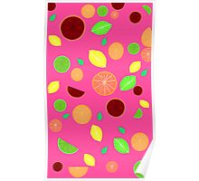 Colorful citrus background (Pink) Poster