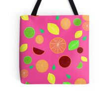 Colorful citrus background (Pink) Tote Bag