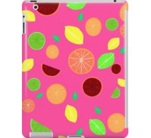 Colorful citrus background (Pink) iPad Case/Skin
