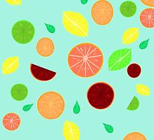 Colorful citrus background by GottyKoby