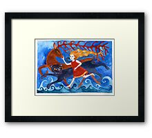 Joyous Company Framed Print