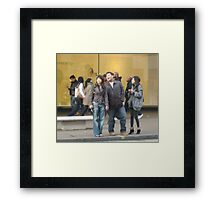 Laughing in Oxford Street Framed Print