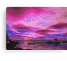 Polluted Sunset Canvas Print
