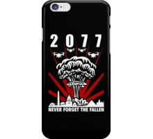 2077 Never Forget The Fallen V1 iPhone Case/Skin
