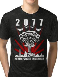 2077 Never Forget The Fallen V1 Tri-blend T-Shirt