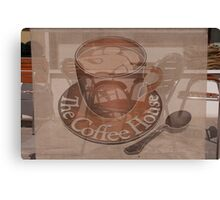 Coffee Cup and Saucer Design Canvas Print