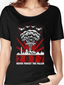 2077 Never Forget The Fallen V2 Women's Relaxed Fit T-Shirt