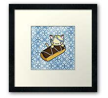 Eclair Kitty Framed Print