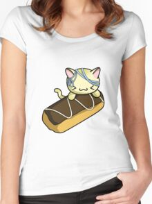 Eclair Kitty Women's Fitted Scoop T-Shirt