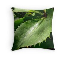 Toothed Plant Throw Pillow