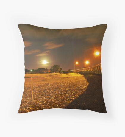 midnight freeway Throw Pillow