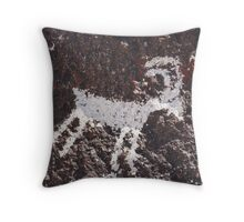 Avikwame petroglyph Throw Pillow