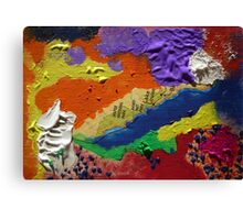 Alberta Canada abstract collage Canvas Print