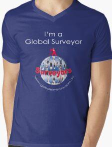 I am a Global Surveyor Mens V-Neck T-Shirt