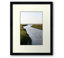Mouth of Pinole Creek Framed Print