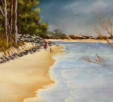 Woodgate Beach  Qld Australia by sandysartstudio