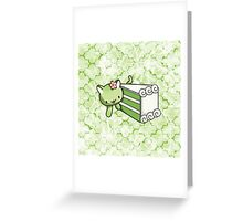 Gateau Matcha Kitty Greeting Card