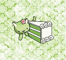 Gateau Matcha Kitty by fushiginaringo