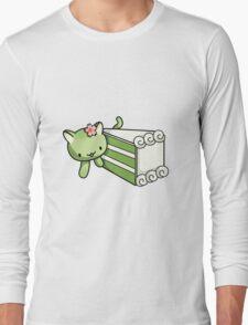 Gateau Matcha Kitty Long Sleeve T-Shirt