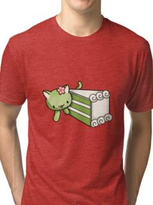 Gateau Matcha Kitty Tri-blend T-Shirt
