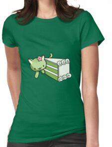 Gateau Matcha Kitty Womens Fitted T-Shirt