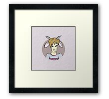 Symbol of New 2015 Year - goat Framed Print