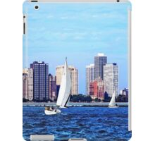 Chicago IL - Two Sailboats Against Chicago Skyline iPad Case/Skin