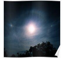 Sundogs, Parhelic Circle and Solar Halo. Poster