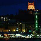 Newcastle By Night - Newcastle NSW Australia by Bev Woodman