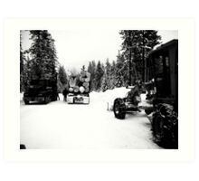 winter logging Art Print