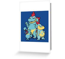 Number 158, 159 and 160 Greeting Card