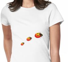 Ladybugs Womens Fitted T-Shirt