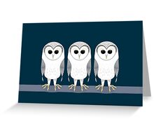 OWL TRIPLETS Greeting Card