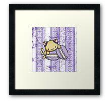 Macaron Kitty Framed Print