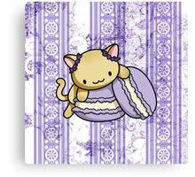 Macaron Kitty Canvas Print
