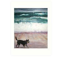 Lloydie Jones on holidays3 Art Print
