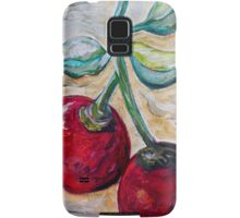 Cherries on White Chocolate Samsung Galaxy Case/Skin
