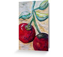 Cherries on White Chocolate Greeting Card